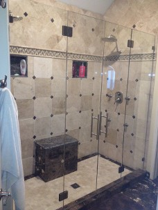 Residential Bathroom Shower Door
