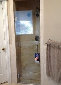 Single Frameless Shower Door